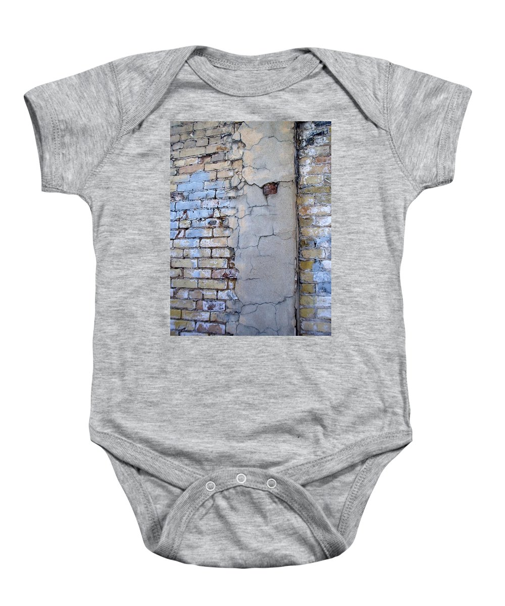Industrial Baby Onesie featuring the photograph Abstract Brick 4 by Anita Burgermeister