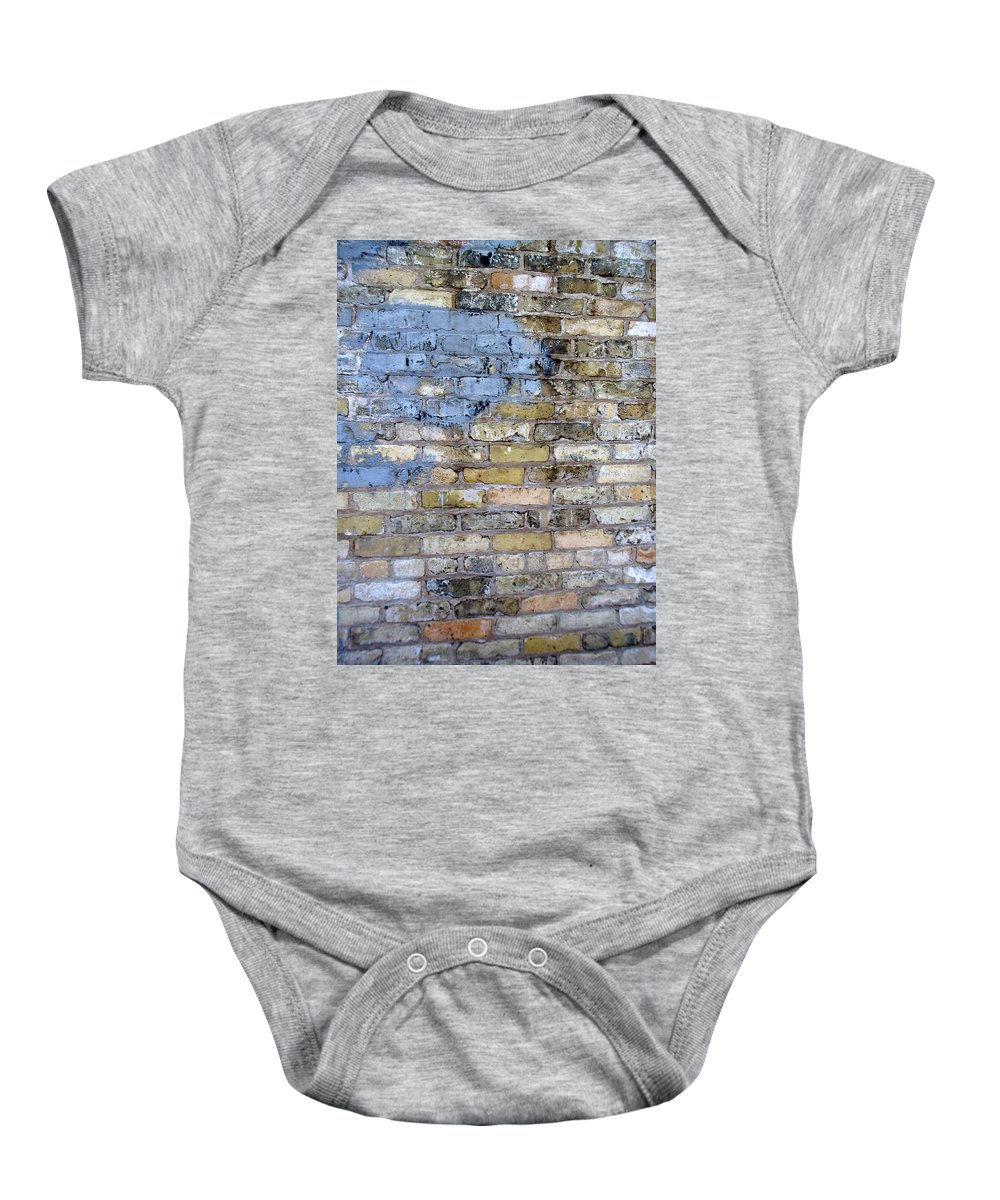 Industrial Baby Onesie featuring the photograph Abstract Brick 6 by Anita Burgermeister