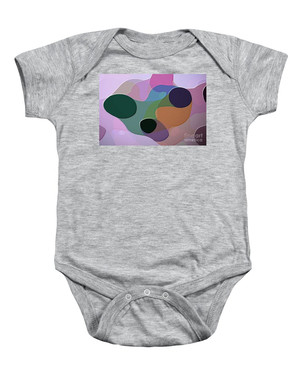 Abstract Baby Onesie featuring the digital art Abstract Collection 018 by Thea Aseron