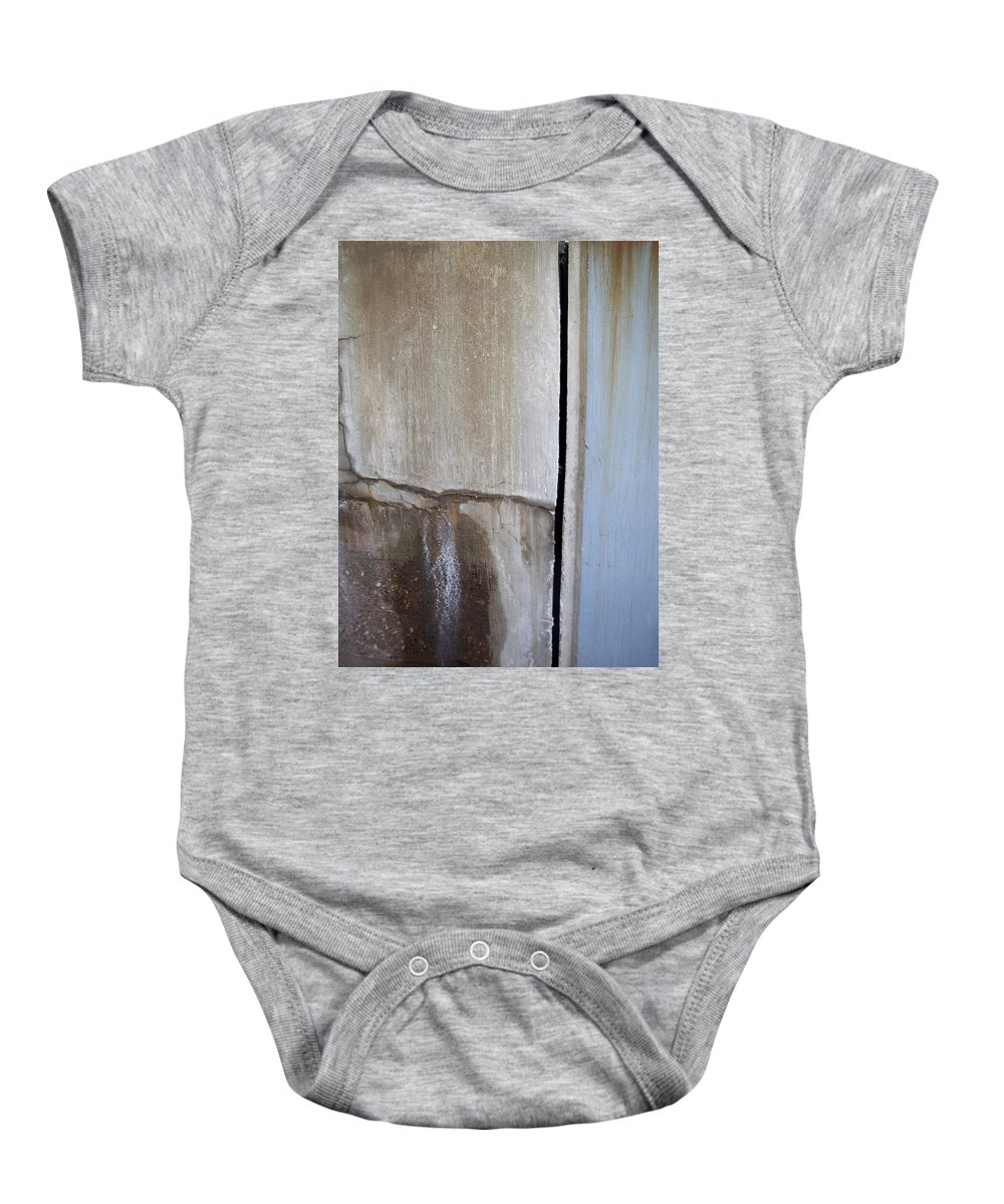 Industrial. Urban Baby Onesie featuring the photograph Abstract Concrete 1 by Anita Burgermeister