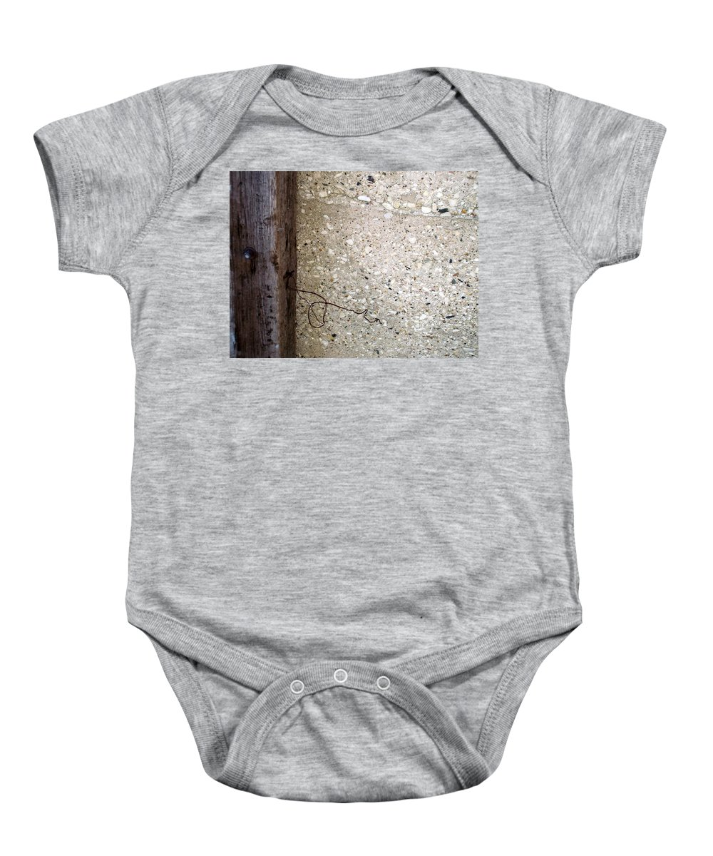 Industrial. Urban Baby Onesie featuring the photograph Abstract Concrete 12 by Anita Burgermeister