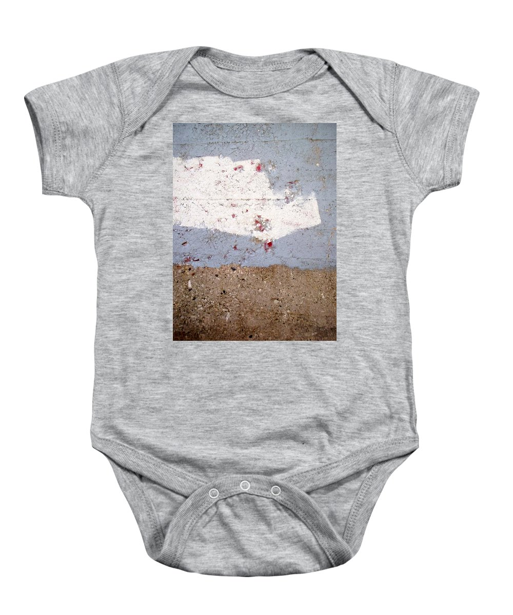 Industrial. Urban Baby Onesie featuring the photograph Abstract Concrete 13 by Anita Burgermeister