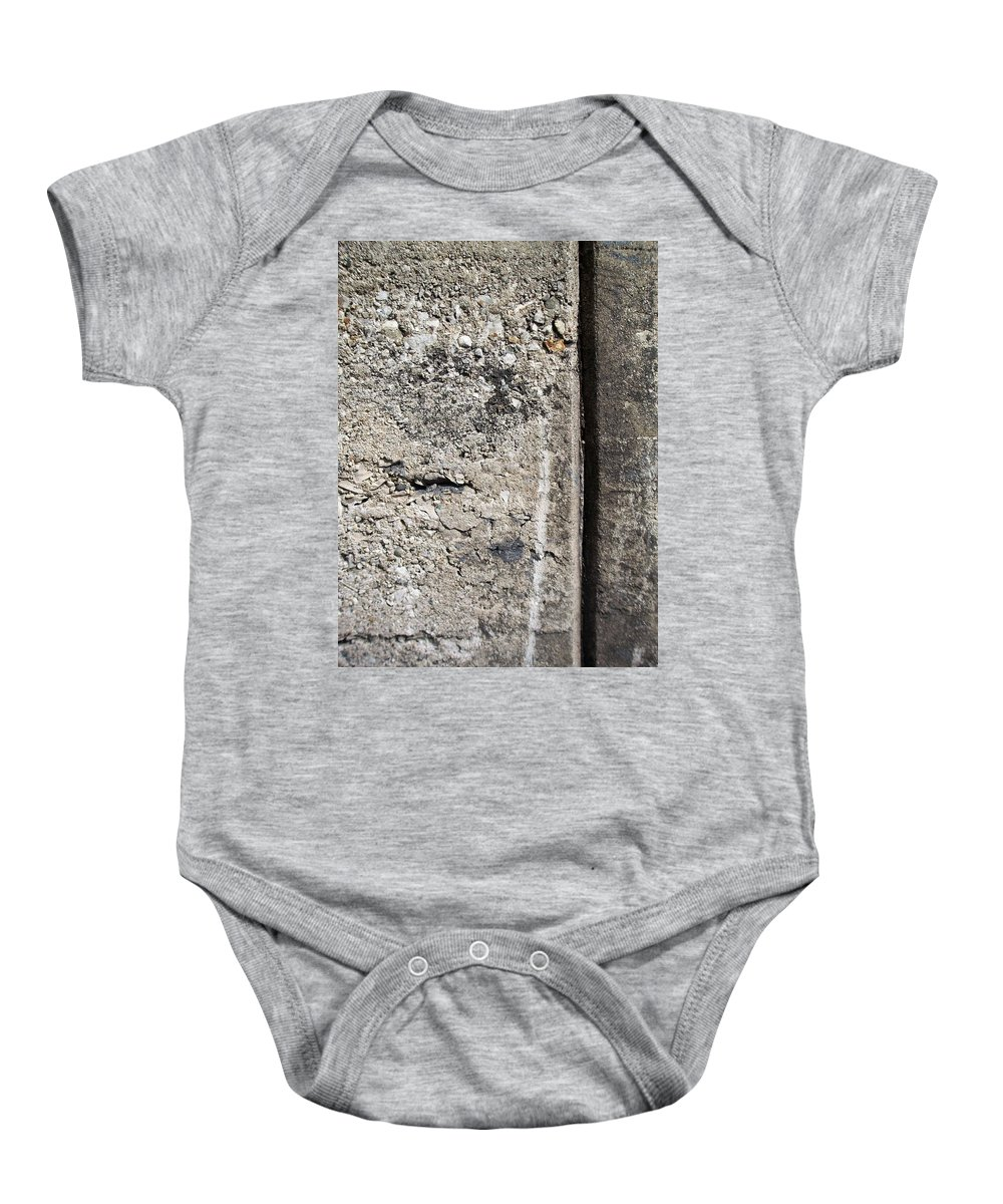 Industrial. Urban Baby Onesie featuring the photograph Abstract Concrete 16 by Anita Burgermeister