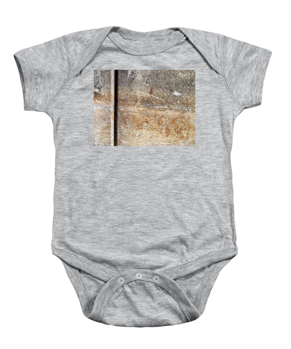 Industrial. Urban Baby Onesie featuring the photograph Abstract Concrete 17 by Anita Burgermeister