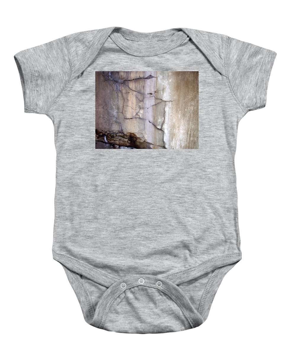 Industrial. Urban Baby Onesie featuring the photograph Abstract Concrete 2 by Anita Burgermeister