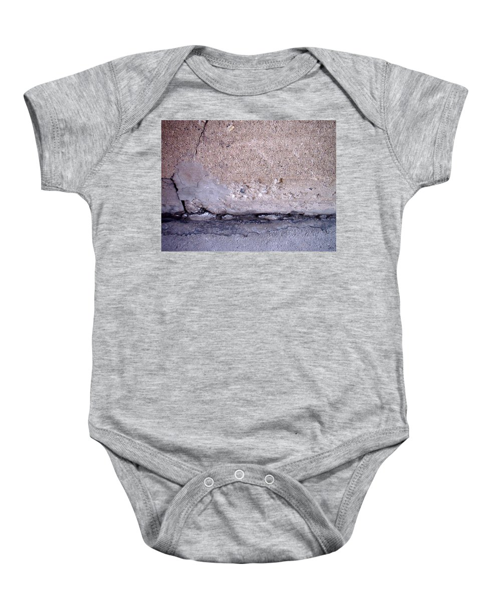 Industrial. Urban Baby Onesie featuring the photograph Abstract Concrete 4 by Anita Burgermeister