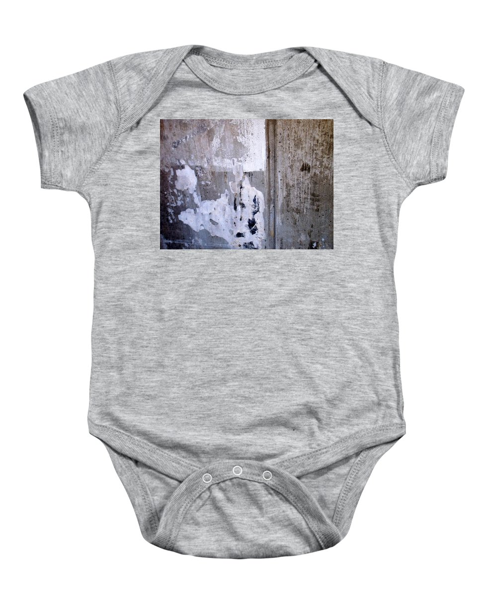 Industrial. Urban Baby Onesie featuring the photograph Abstract Concrete 9 by Anita Burgermeister