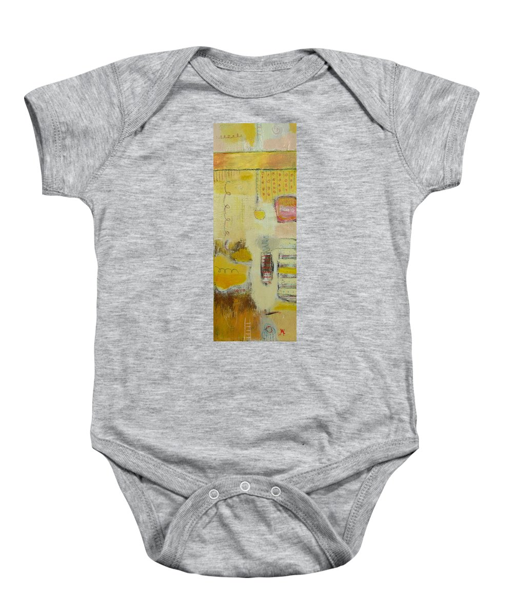 Abstract Baby Onesie featuring the painting Abstract Life 1 by Habib Ayat