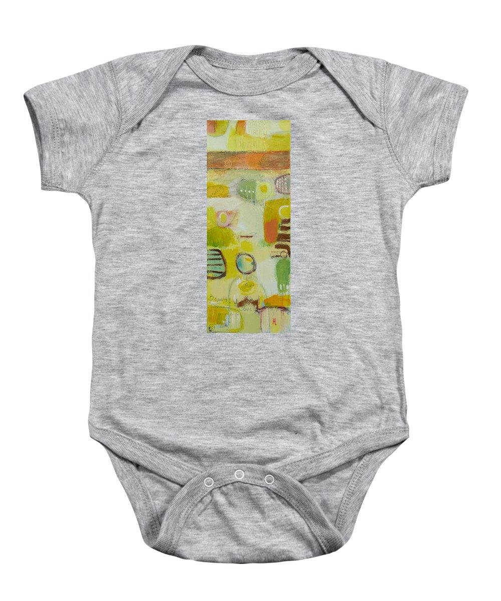 Baby Onesie featuring the painting Abstract Life 2 by Habib Ayat