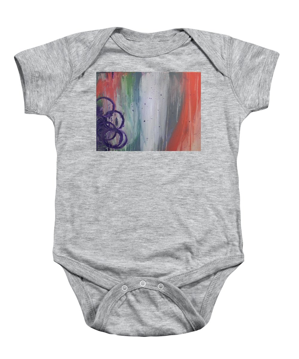 Abstract Baby Onesie featuring the painting Abstract by LKB Art and Photography