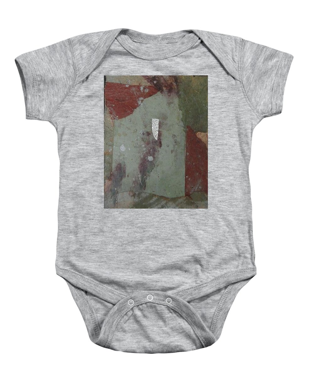 Baby Onesie featuring the mixed media Abstract One by Pat Snook
