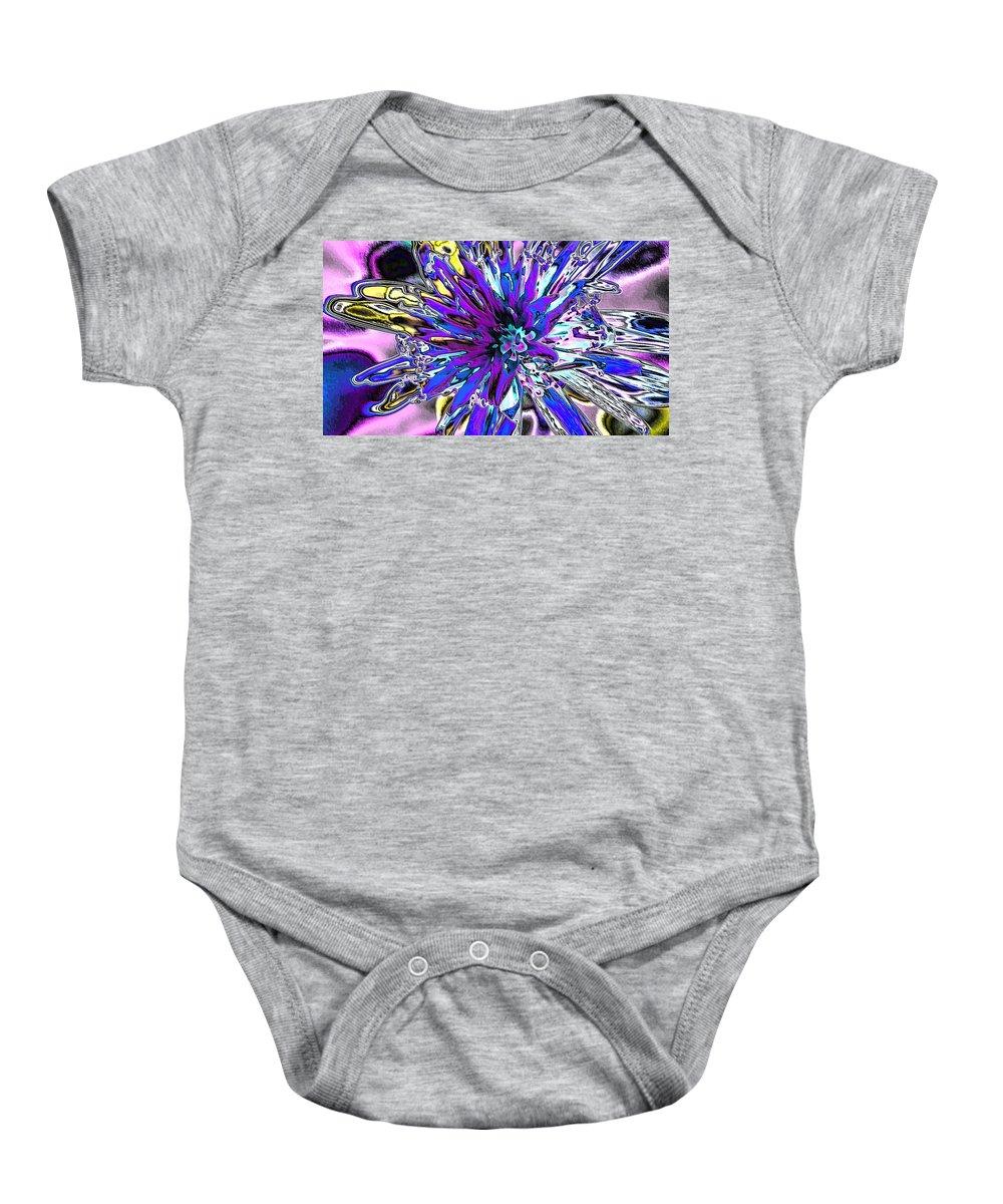 Digital Art Baby Onesie featuring the digital art Abstract Wildflower 9 by Belinda Cox