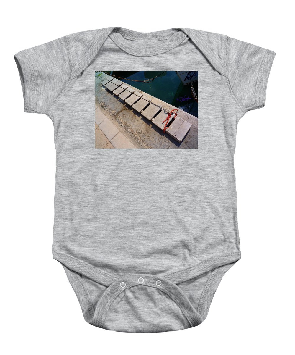 Fishing Net Baby Onesie featuring the photograph Access by Charles Stuart