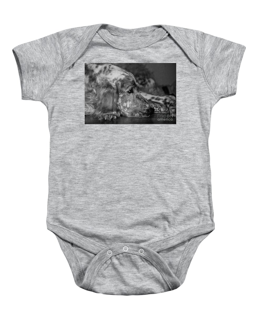 Dog Baby Onesie featuring the photograph Addelaide by Andrea Spritzer