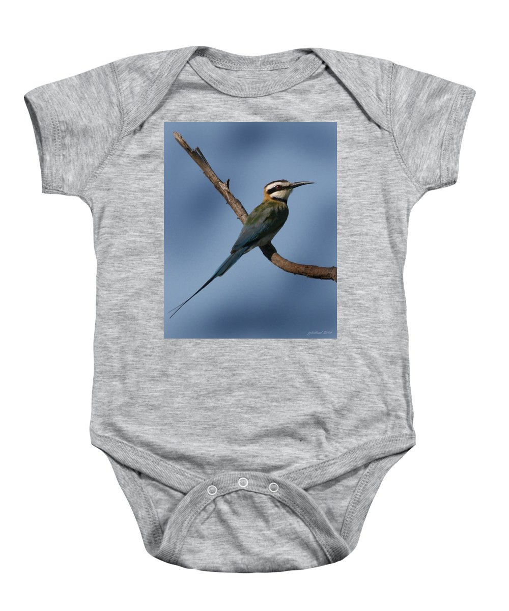 Bee Eater Baby Onesie featuring the photograph African Bee Eater by Joseph G Holland