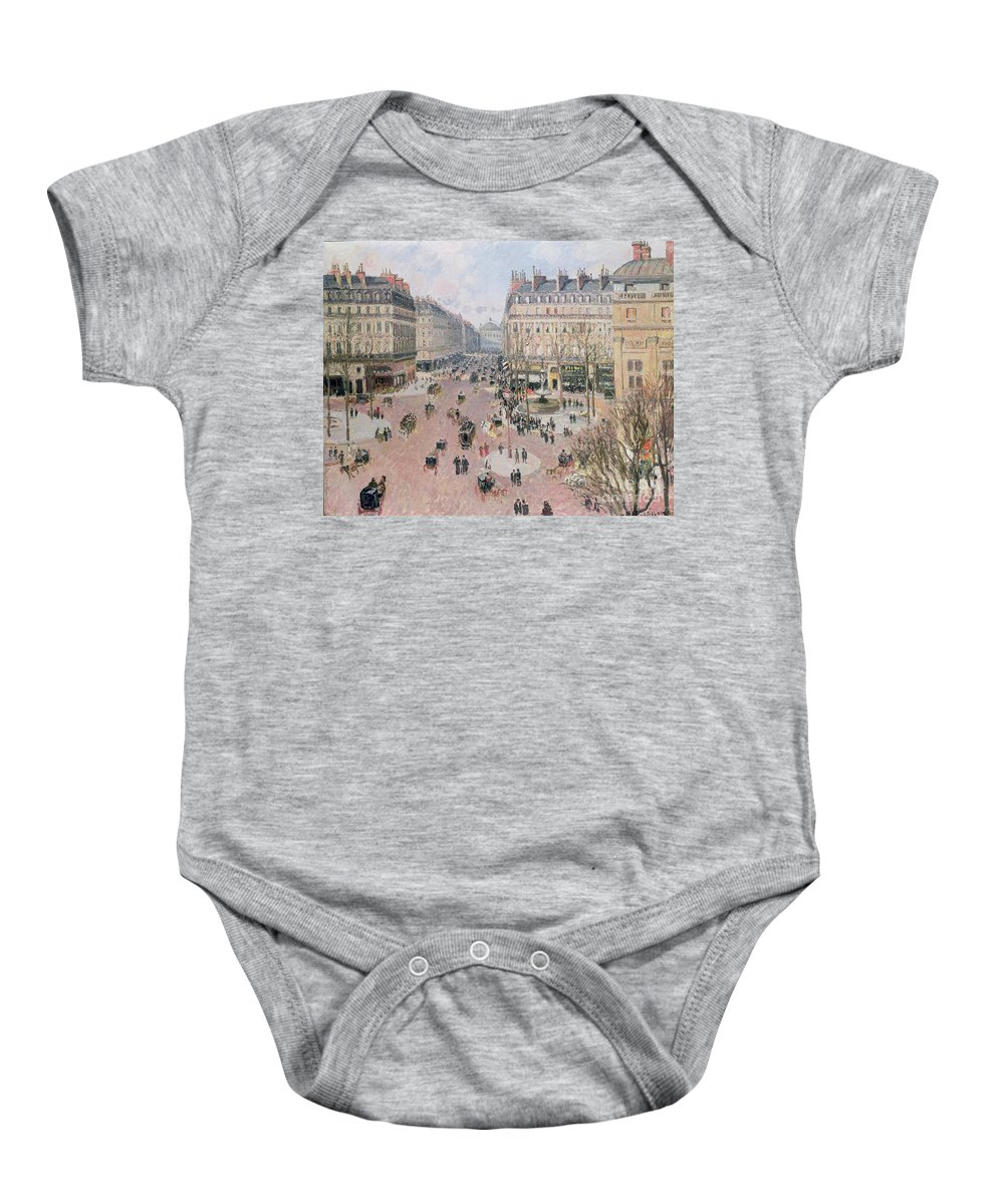 Place Baby Onesie featuring the painting Afternoon Sun In Winter by Camille Pissarro
