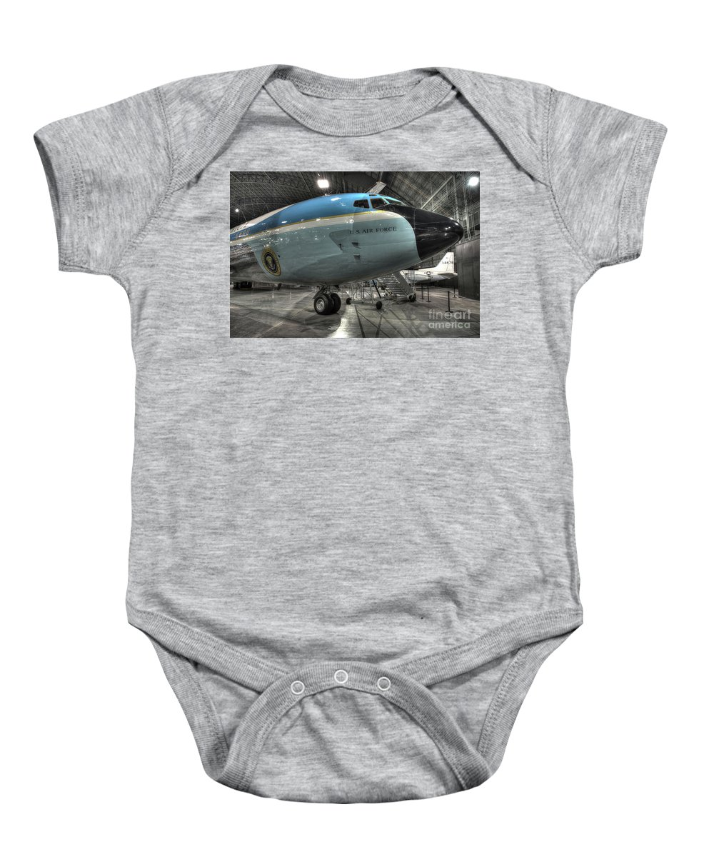 Dayton Baby Onesie featuring the photograph Air Force One - Boeing Vc-137c Sam 26000 by Greg Hager