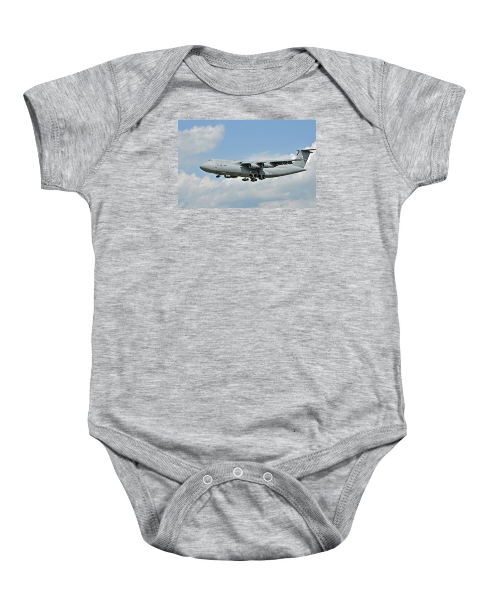 Airplane Baby Onesie featuring the photograph Air Force Plane by Glenn Gordon