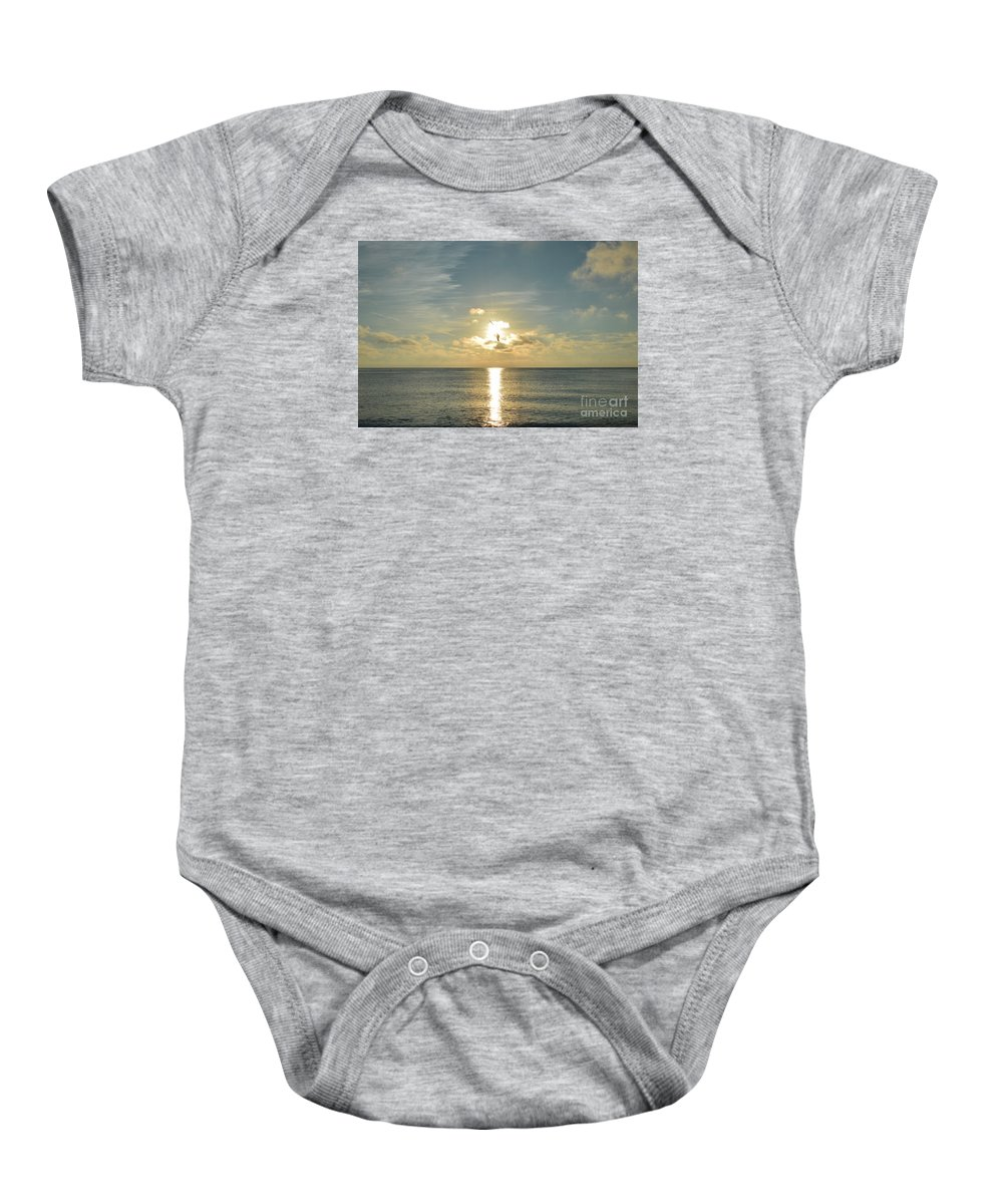 Naturaleza Baby Onesie featuring the photograph Wings Of The Sun by Lenin Caraballo