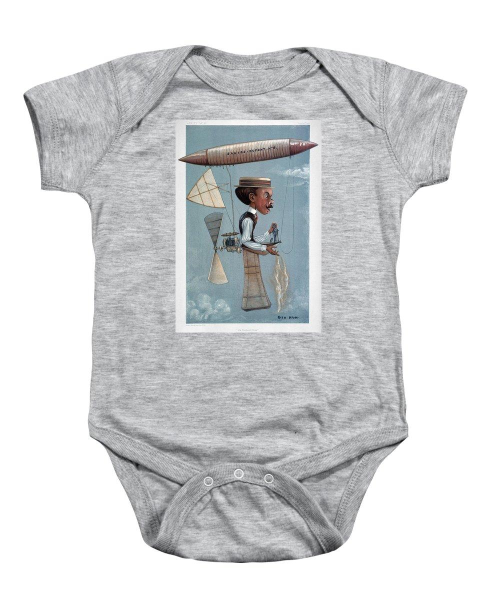 1901 Baby Onesie featuring the photograph Alberto Santos-dumont by Granger