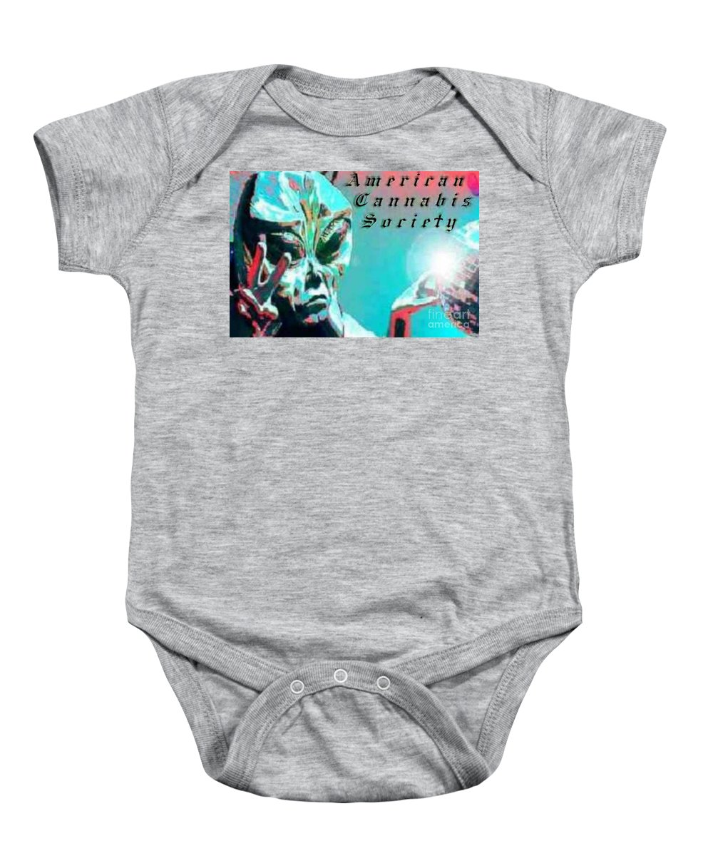 Alien Baby Onesie featuring the digital art Alien by Michelle S White