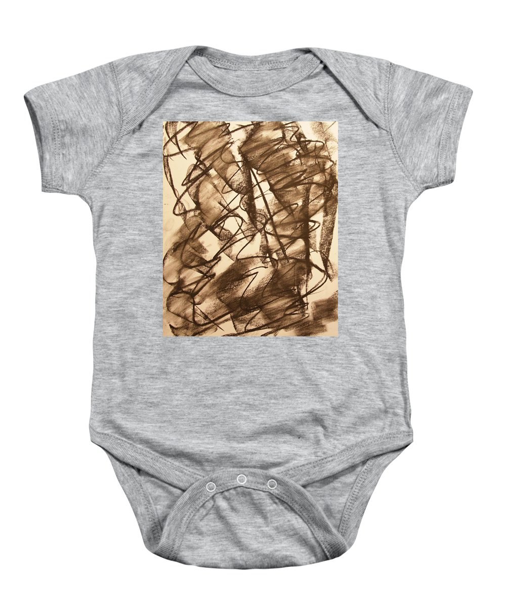 Abstract Baby Onesie featuring the drawing All Involved by David Barnicoat