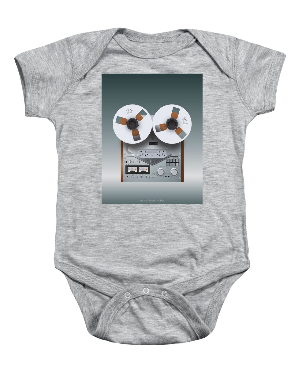 All The President's Men Baby Onesie featuring the digital art All The President's Men - Alternative Movie Poster by Movie Boy