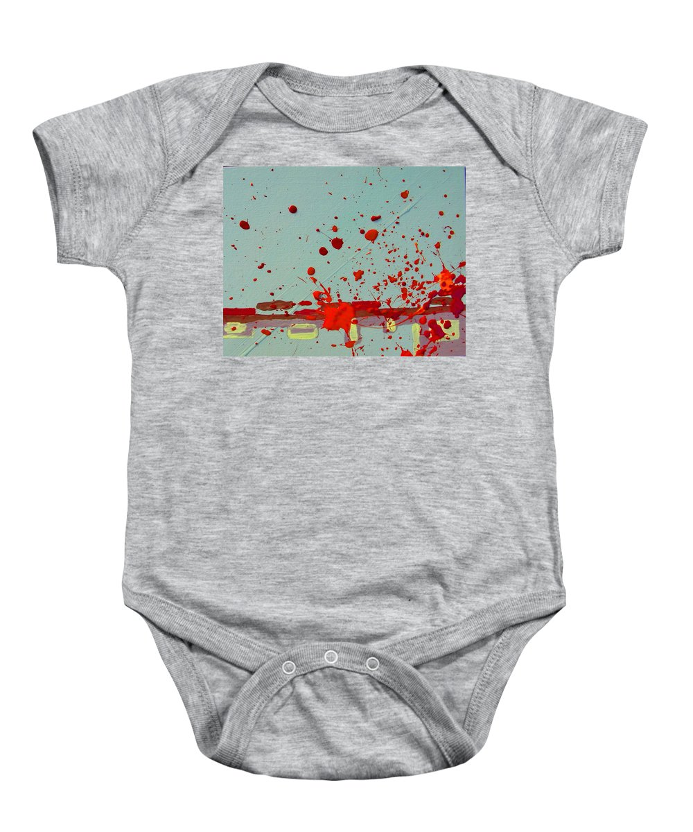 Abstract Baby Onesie featuring the painting Always Under Control by Lenore Senior