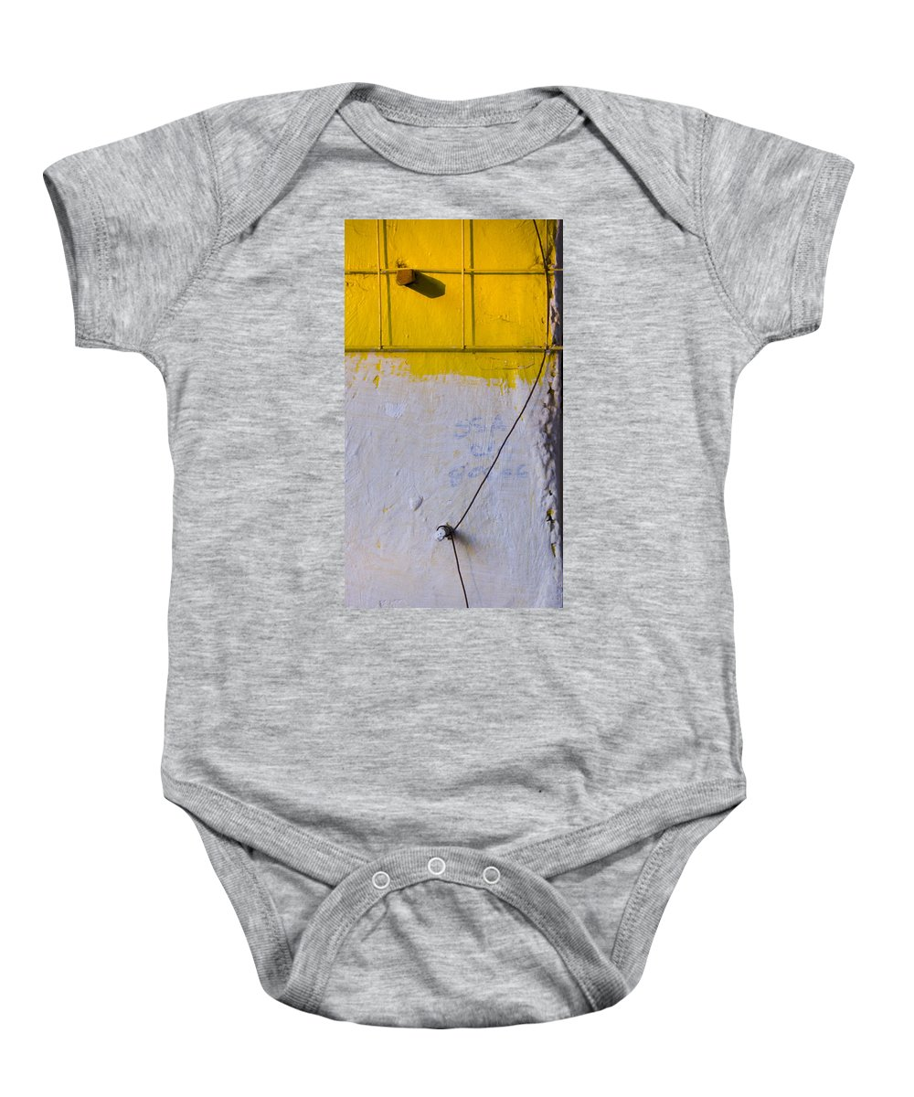 Abstract Baby Onesie featuring the photograph Amarillo by Skip Hunt