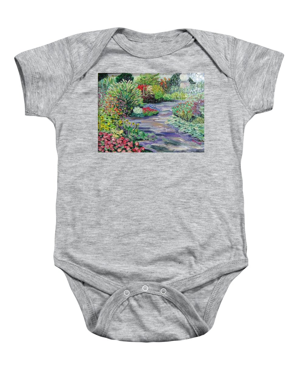 Park Baby Onesie featuring the painting Amelia Park Blossoms by Richard Nowak