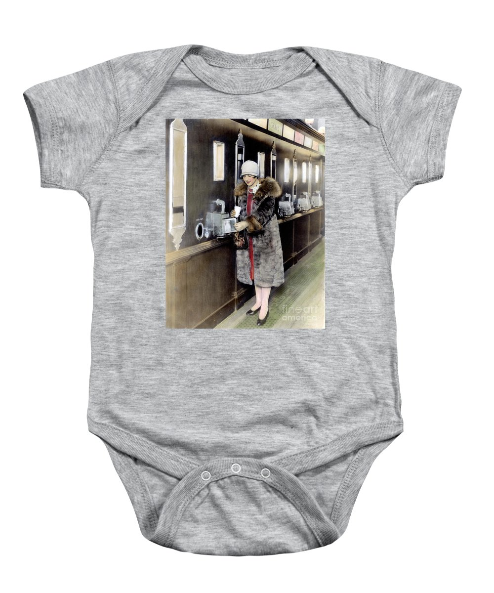 1925 Baby Onesie featuring the photograph America: Automat, C1925 by Granger