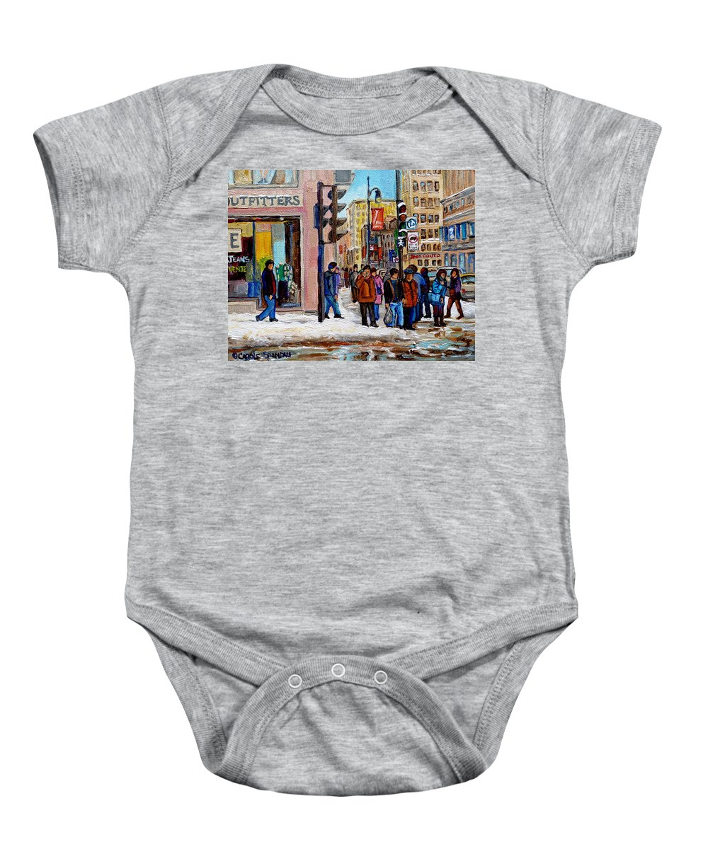 American Eagle Outfitters Baby Onesie featuring the painting American Eagle Outfitters by Carole Spandau