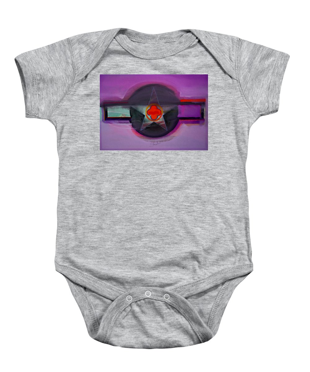 Star Baby Onesie featuring the painting American Lilac by Charles Stuart