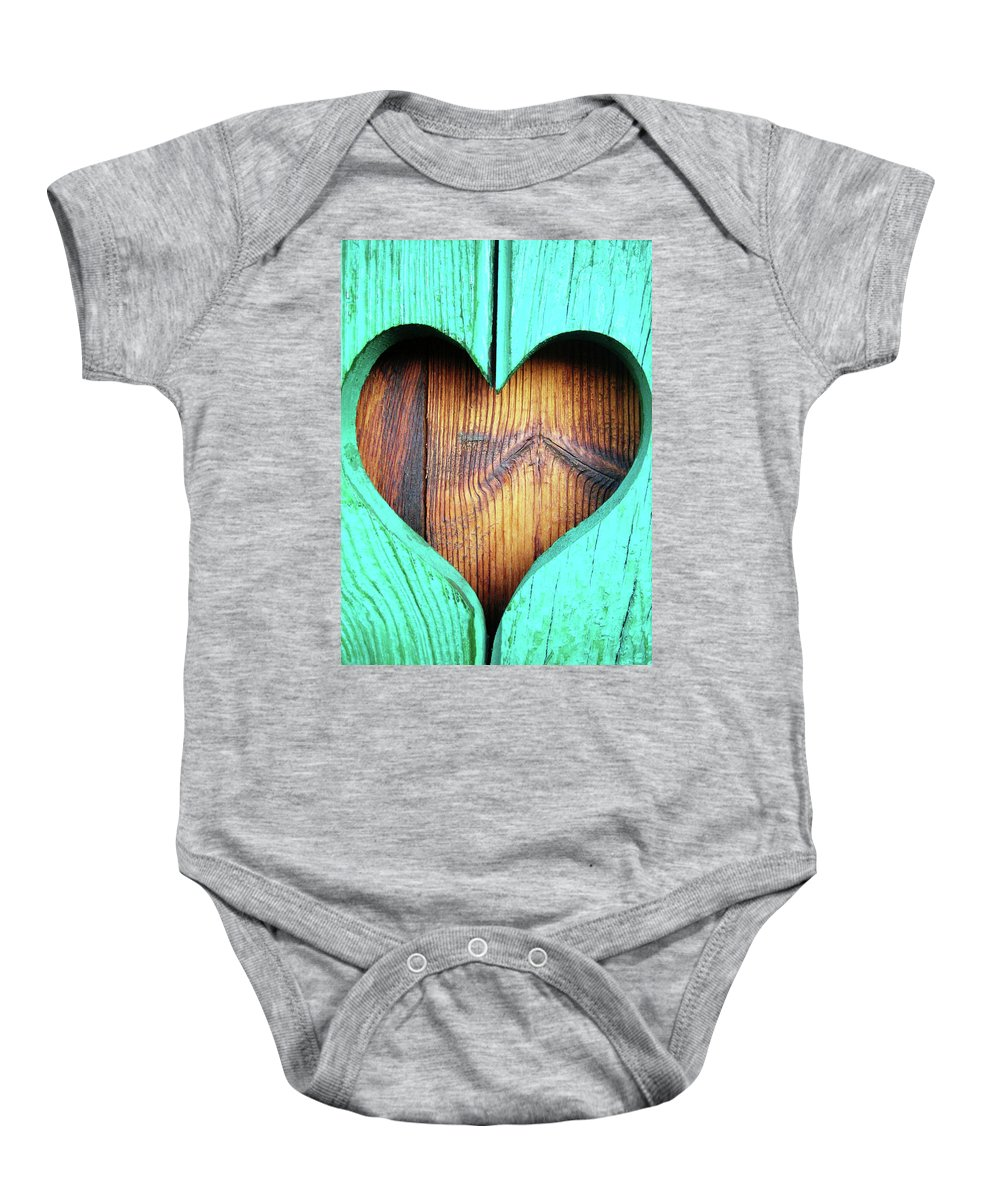 Heart Baby Onesie featuring the photograph Amor ... by Juergen Weiss