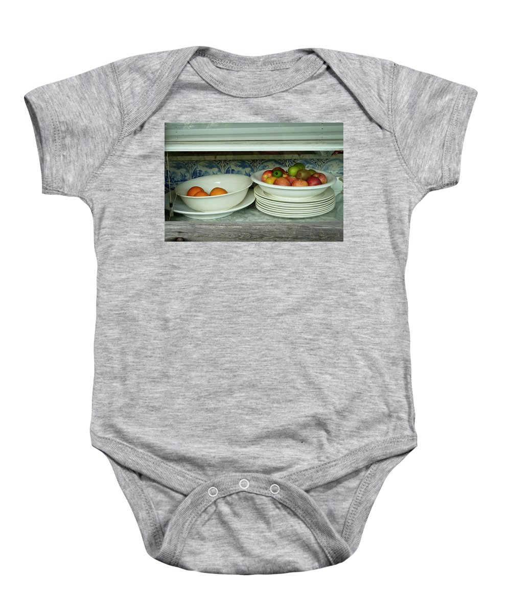 Background Baby Onesie featuring the photograph Amsterdam Still Life by Joan Carroll