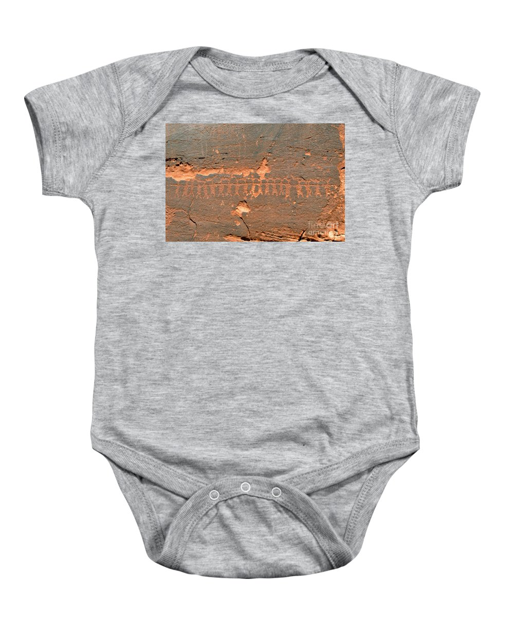 Anasazi Baby Onesie featuring the photograph Anasazi Dancers by David Lee Thompson