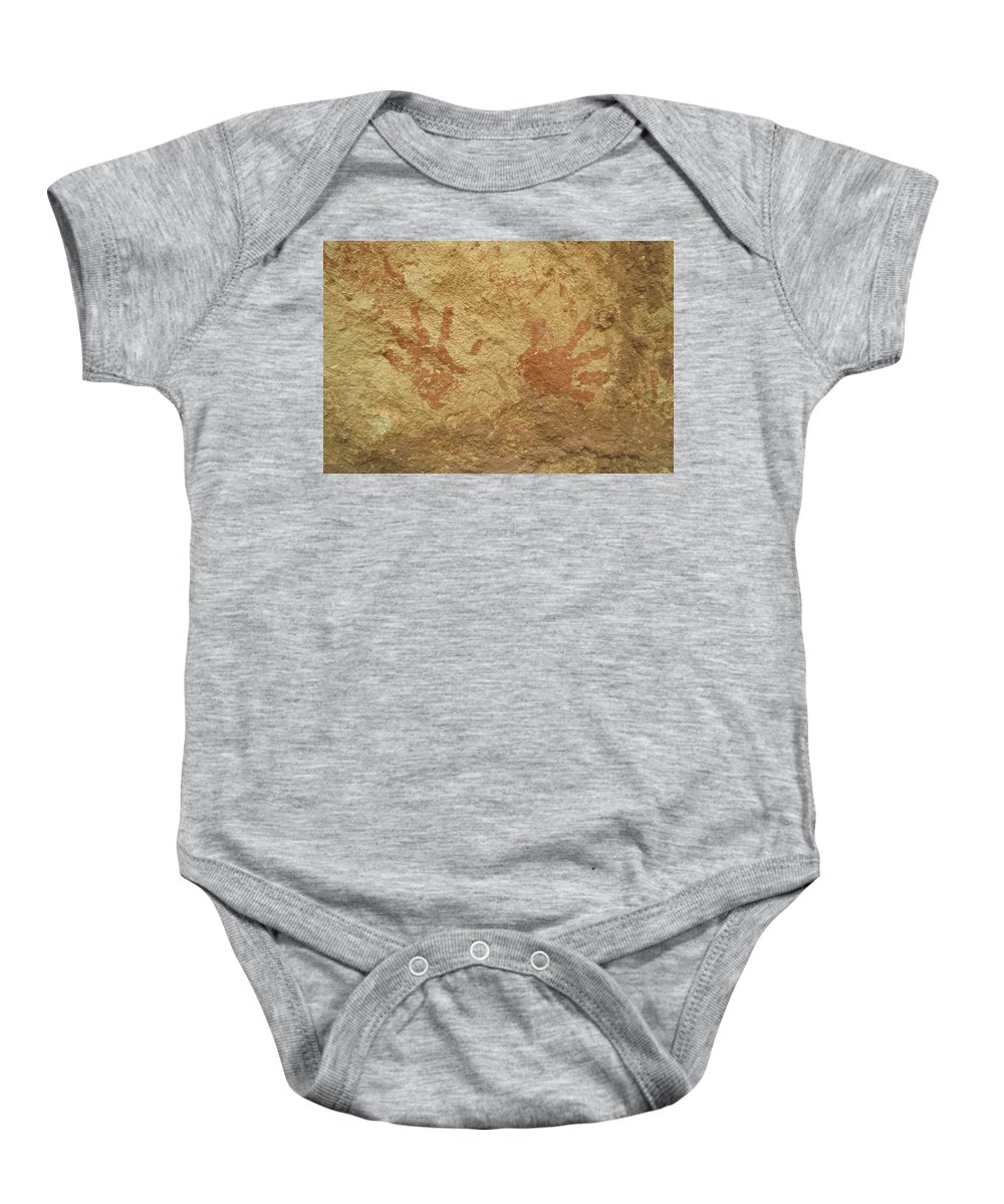 Anasazi Baby Onesie featuring the photograph Ancient Hands by Jerry McElroy