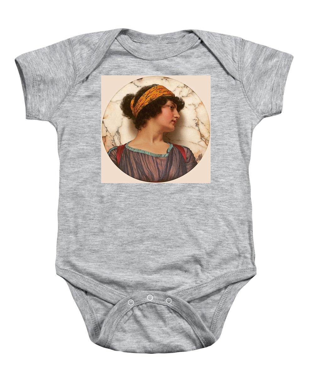 John William Godward Baby Onesie featuring the painting Androclea by John William Godward