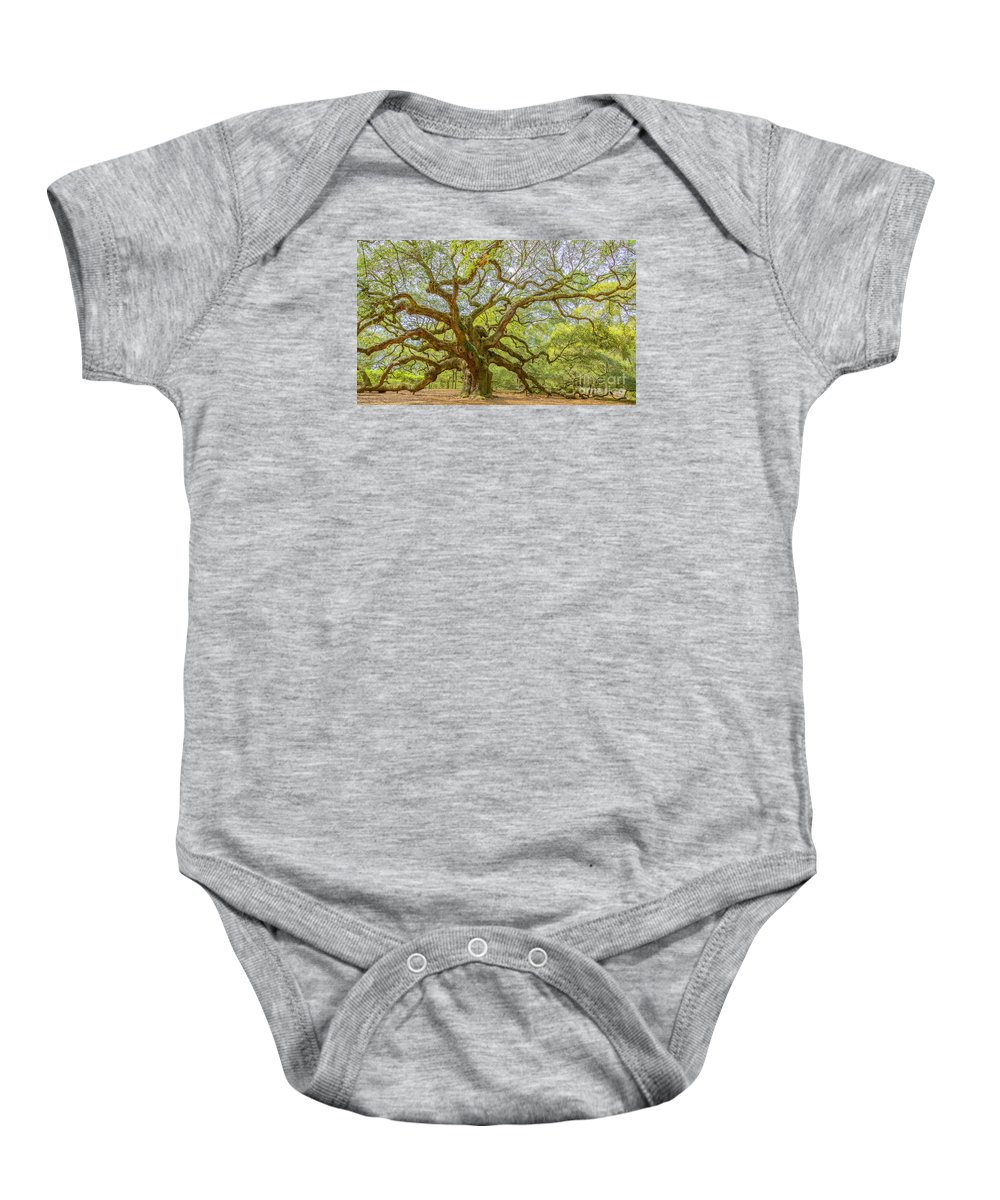 South Carolina Baby Onesie featuring the photograph Angel Oak by Elvis Vaughn