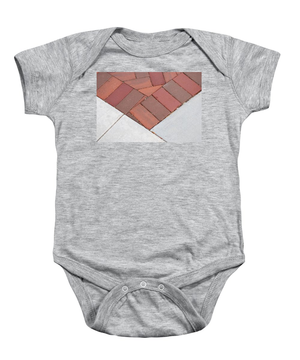 Bricks Baby Onesie featuring the photograph Angles by Rob Hans