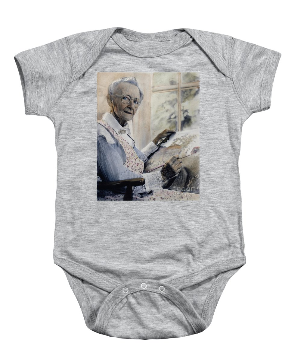 1950s Baby Onesie featuring the photograph Anna Mary Robertson by Granger
