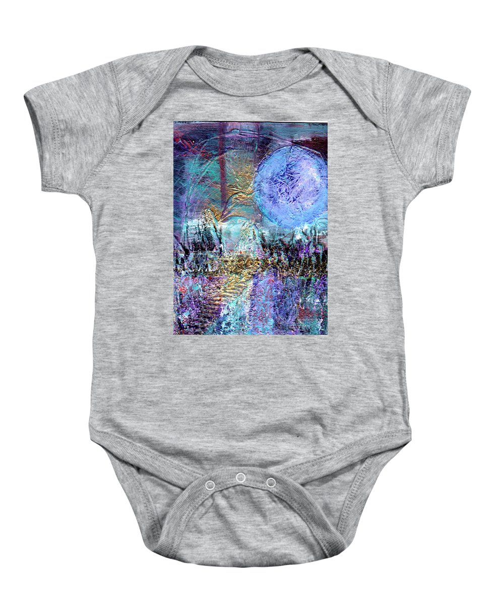 Surreal Baby Onesie featuring the painting Another World by Wayne Potrafka