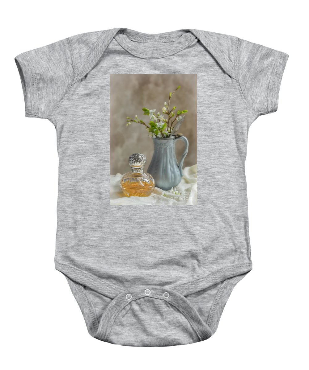 Perfume Baby Onesie featuring the photograph Antique Perfume Bottle by Amanda Elwell