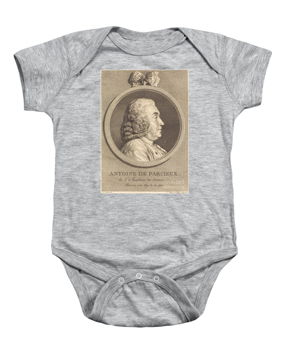 Baby Onesie featuring the drawing Antoine De Parcieux by Augustin De Saint-aubin After Charles-nicolas Cochin I