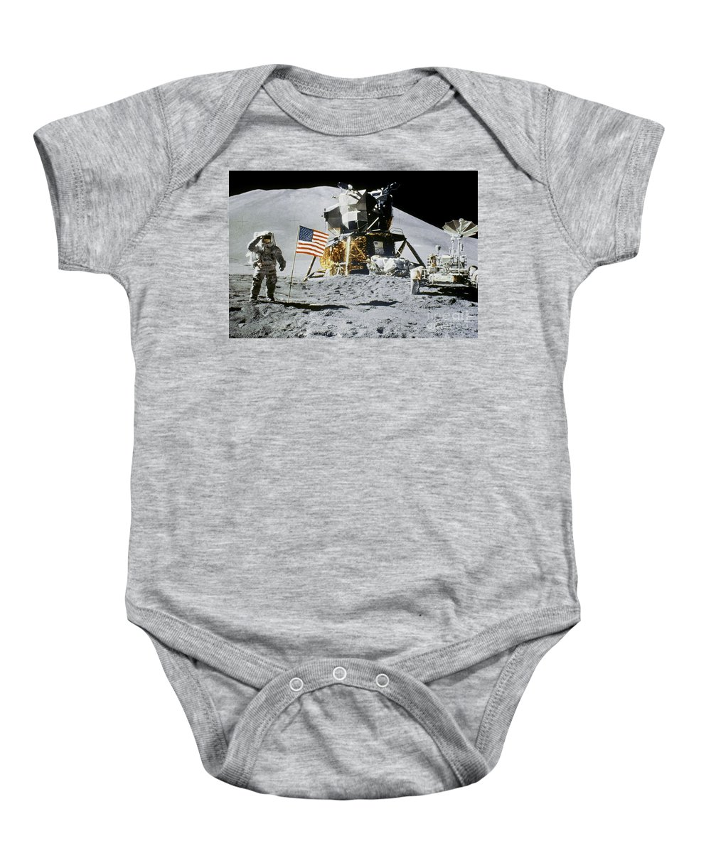 1971 Baby Onesie featuring the photograph Apollo 15: Jim Irwin, 1971 by Granger
