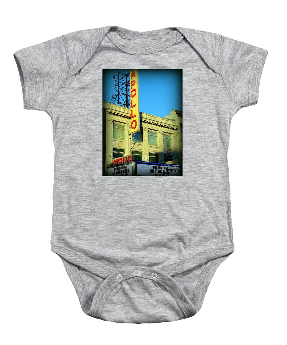 Apollo Theater Baby Onesie featuring the photograph Apollo Vignette by Ed Weidman