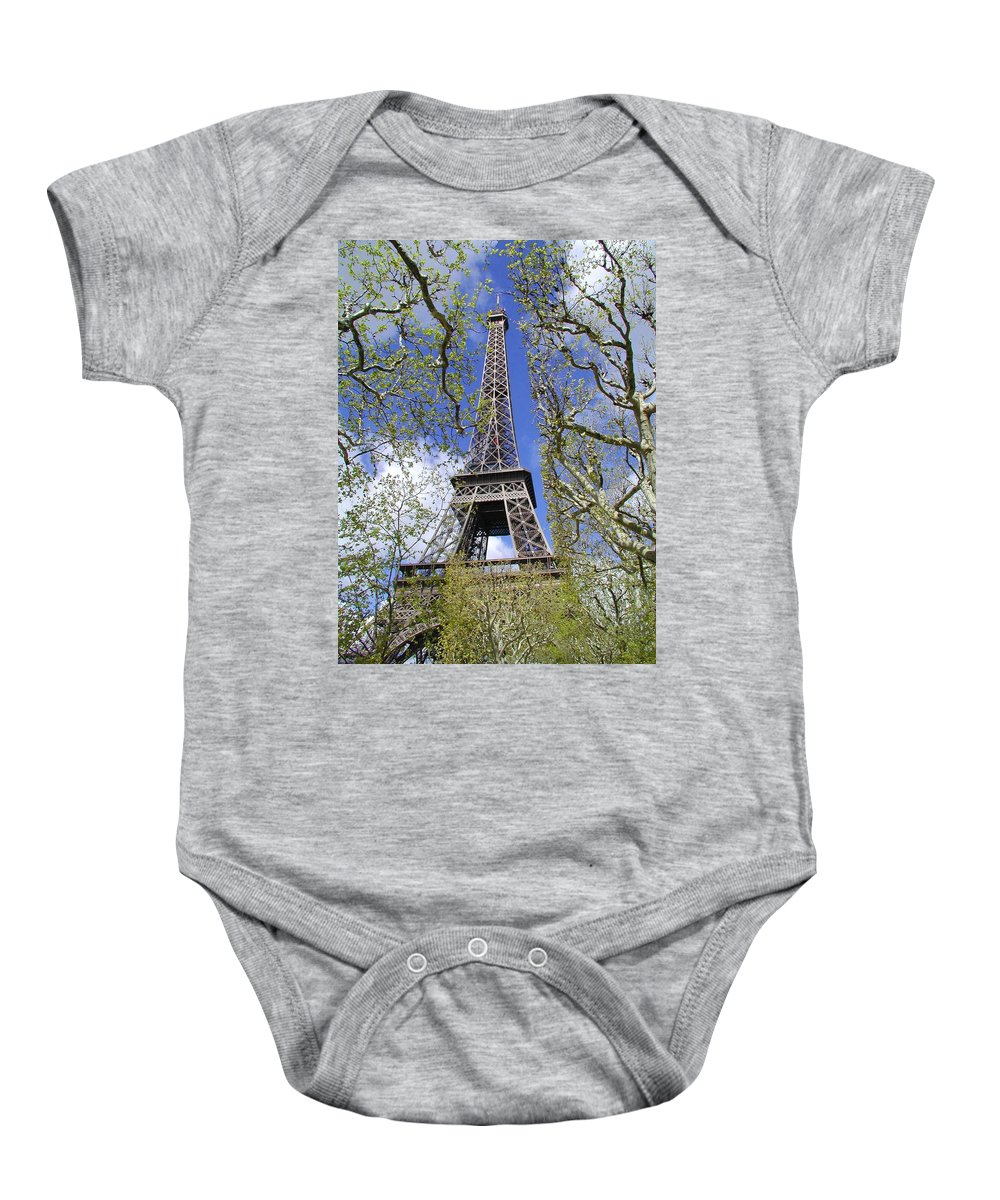 Paris Baby Onesie featuring the photograph April In Paris by Tom Reynen