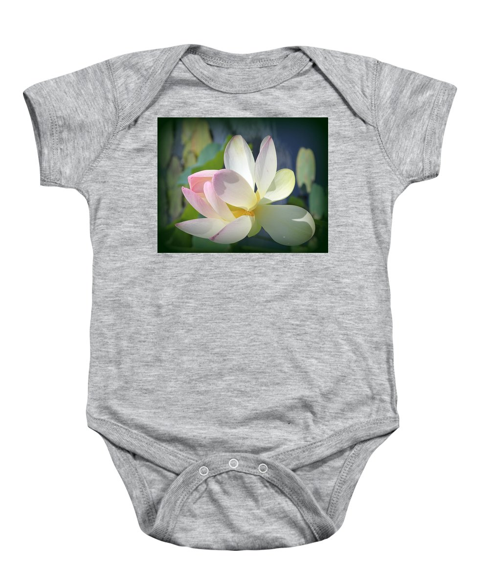 Plant Baby Onesie featuring the photograph Aquatic Nymph - Waterlily by Dora Sofia Caputo Photographic Design and Fine Art