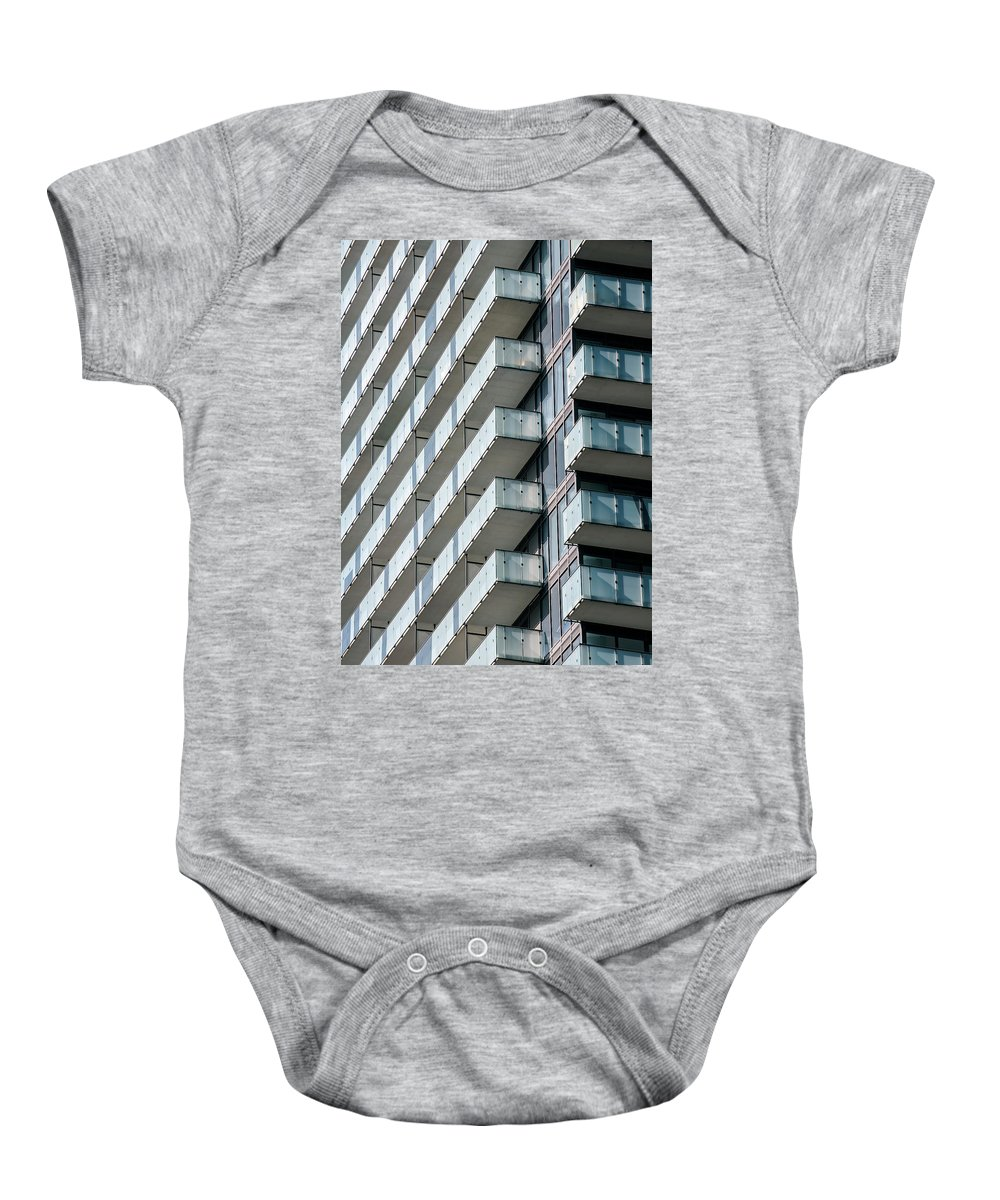 Abstract Baby Onesie featuring the photograph Architectural Abstract - 231 by Rick Shea