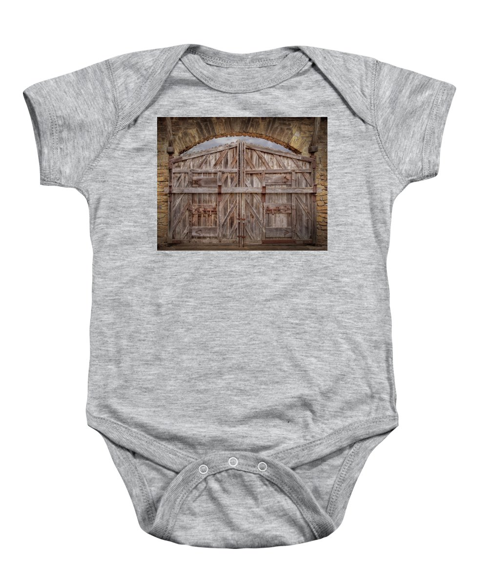 American Baby Onesie featuring the photograph Archway Gate by David and Carol Kelly